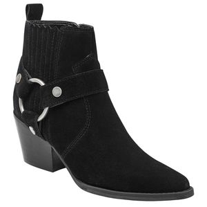 🆕️ MARC FISHER Halie Harness Moto Ankle Boots!